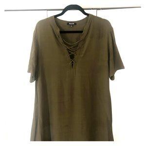 Madewell Novela Lace Up Dress
